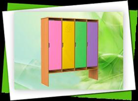 Шкафы и стеллажи для садиков
