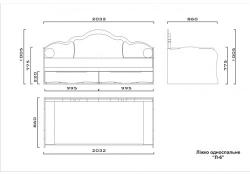 Кровать Л-6 ламели 2,0х1,2 (напр.: телескоп., без ручек)