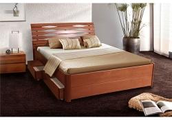 Кровать Мария-Люкс (бук) (с ящиками)