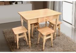 Комплект кухонный стол +4табурета