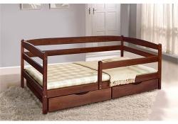 Кровать Ева (Бук) с ящиками и боковой планкою