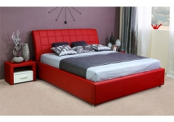 Кровать Амур красная