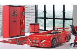 Кровать-машинка Форсаж красная