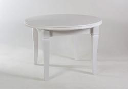 Стол обеденный с круглой столешницей. 1100/2100 белый Лас-Вегас