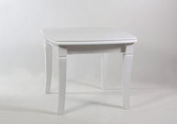 Стол обеденный с квадратной столешницей. 900*900/1900 белый Монте-Карло