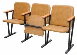 Кресло для актового зала мягкое 3-х местное, (кожзам)