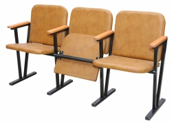 Кресло для актового зала мягкое 4-х местное, (кожзам)