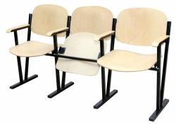 Кресло для актового зала 3-х местное (гнутая фанера)