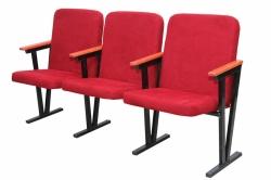 Кресло для актового зала мягкое 4-х местное, (ткань)