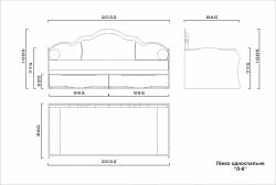 Кровать Л-6 ламели 2,0х0,9 (напр.: телескоп., без ручек)
