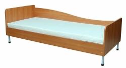 Кровать односпальная, защитная боковина слева