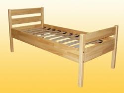Кровать детская, одноярусная из натуральной древесины