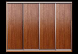Шкаф купе 4 двери ДСП + ДСП + ДСП + ДСП 2400х2700х600