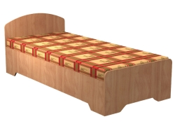 Кровать односпальная 2036х936х750мм (без матраса)