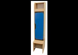Шкаф детский 1-местная с фигурными дверями (хромированные трубы)