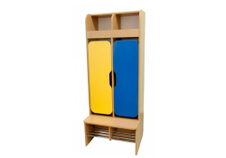 Шкаф детский 2-местная с фигурными дверями (хромированные трубы)
